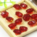 Beads, Selenial Crystal, Crystal, Burgandy , Flower shape, 14mm x 14mm x 7mm, 1 Bead, [ZZE0005]